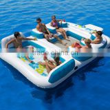 Best sale inflatable island float lounge,inflatable water floating island for resting