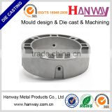 OEM factory customize aluminum die casting sand blasting powder coating led heat sink covers