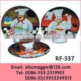 Round Shape Professional Ceramic Plate with Decoration Design for Perosnalized Pizza Plate