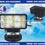 4.3 inch DC10-30V 18W square Led Work Light Spot/flood Off Road Driving for lorry compact car