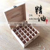 Natural Wooden Essential Oil Box Holds 25 Bottles Size 5-15 ml High Quality Unfinished Wood Box
