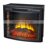 CSA & CE approved decor flame electric fireplace main material steel and resin for indoor use