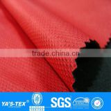 3 layers red mesh polar fleece laminated waterproof polyester spandex fabric for outdoor jacket