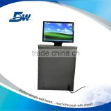 BW Pop Up Hidden Monitoring System With Remote And Central Control/Concealed LCD Monitor Lift