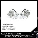 Charms jewelry wholesalers los angeles small earring cute for girls star shape earring stud with a single CZ stone fashion