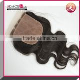 Virgin Peruvian 3 part silk base Lace Closure Full Lace Frontal Closures cheap stock Silk Base Lace Closure