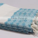 Aqua Blue Tunisian Fouta Soft Pareo Factory Wholesale beach Towel