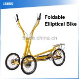 (160408)Outdoor equipment exercise foldable three wheels fitness elliptical bike                                                                         Quality Choice