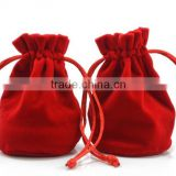 custom organic cotton drawstring jwelry pouch bags