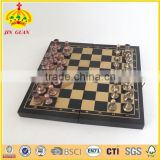 wooden chess game set with metal piece and favorable chess game set and professional backgammon checker chess board