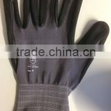 nylon spandex knitted liner with micro foam nitrile coated glove