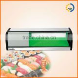 with sealed refrigerant compressor, fast cool & low voice & energy-saving stainless steel & tempered glass sushi display cooler