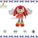 Plush cartoon character doll sonic soft toy for baby
