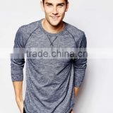 Hot Basic Men Long Sleeve T-Shirt China Manufacturer Oem Make 220 Gsm 60% Cotton 40% Polyester T Shirt Fabric