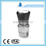 High pressure back pressure valve for liquid and gas