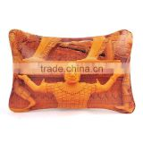 Decorative impression style leather throw pillows with insert