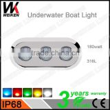 factory direct ip68 180w 12 volt 316l stainless steel remote controlled submersible led lights for aquarium