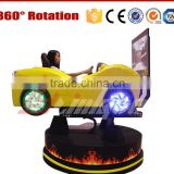 oversea hot sale removable 3 degree of freedom racing simulator machine with coin selector