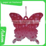 The best selling butterfly car air freshener butterfly car paper air freshener with Logo printing IC-939                                                                                                         Supplier's Choice