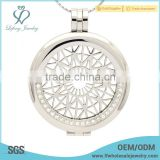 Trendy silver crystal coin pendants,stainless steel plate holder lockets