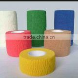 ( S )Medical nonwoven elastic cohesive bandage for horse 5cm*4.5m,7.5cm*4.5m (CE,FDA approved)