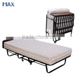 price of spring mattress metal frame portable hotel folding single bed
