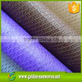 cross design textile /fabric non woven/ manufacture pp cambrelle nonwoven shoe lining fabric / cross polypropylene non woven