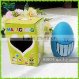 Cute egg magic bean for DIY planting