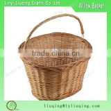 Hot sale custom wicker bike basket classic willow bike basket