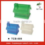 supply all kinds of house shaped plastic piggy bank