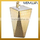 Bathroom one piece pedestal basin cermiac golden colored sink                                                                         Quality Choice
