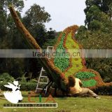 Hot Sale Artificial Plastic Grass Garden Sculpture Butterfly