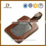 custom China factory leather bag case leather luggage tag