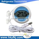 Digital refrigerator thermometer magnetic refrigerator temperature thermometer with 2pieces sucking disc (S-W10)