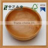 Wholesale most popular FSC handmade custom natural round wooden salad bowl                                                                         Quality Choice