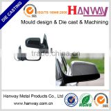 OEM china factory aluminum die casting powder coating motorcycle automobile rearview mirror frame