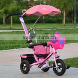 Three wheel bike toy baby tricycle / stroller baby pram tricycle / kid children tricycle for twins