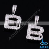 Zircons B sterling silver pendants fashion body jewelry