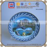Plate Design 3D Resin Souvenir Tourists Country Fridge Magnets Ceramic Souvenir Plate With Magnet