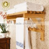 Beautiful wooden towel rack hotel basic bathroom accessaries