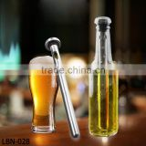 stainless steel 304 wine beer chiller cooling ice stick rod in bottle pourer beer