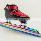 Professional short track Ice Speed Skate ice Skate boot custom womens ice skates ice skate black color