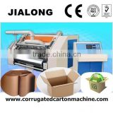 JL-06066 CE and ISO 9001 2 ply corrugated carton making machine/ vacuum suction type fast speed single facer carton box making