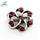 NEW Snaps Rhinestone Flowers Antique Ginger Snap Jewelry 18mm Snap Button Fit Charm Bracelet
