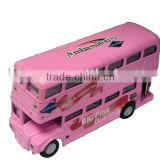 1/72 die cast pull back double decker toy bus