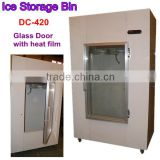 glass door ice storage bin to hold 125 ice bags(8 lbs.)/ice merchandiser