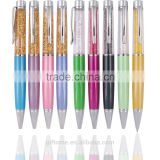 Multicolor metal crystal ball pen in stock