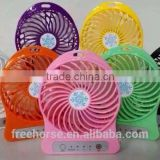 portable usb fan rechargeable mini usb fan led light usb mini fan with power bank Powerful wind