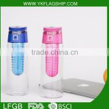 BPA Free Custom plastic joyshaker water bottle opener,water bottle joyshaker model with infuser