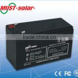 <MUST Solar>12v 100ah deep cycle battery for solar inverter